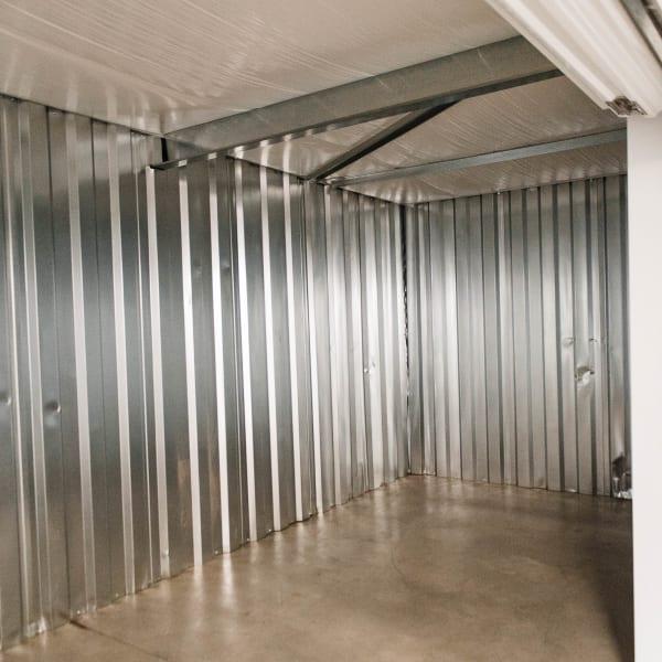 Inside of a self storage unit at Statesville Mini Storage in Statesville, North Carolina