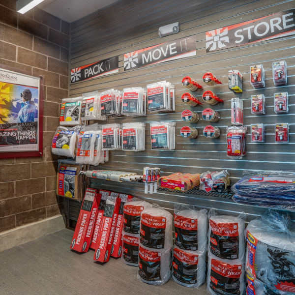 Packing supplies sold at StorQuest RV & Boat Storage in Littleton, Colorado