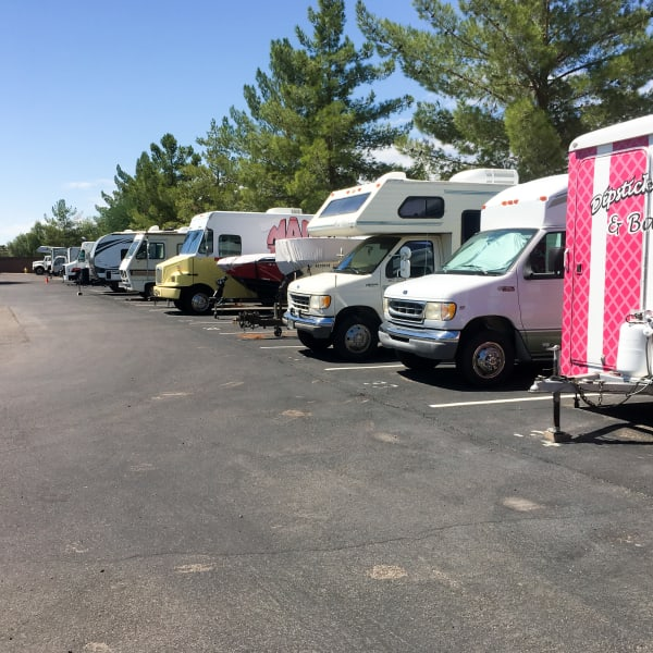 RV parking spaces at StorQuest RV & Boat Storage in Littleton, Colorado
