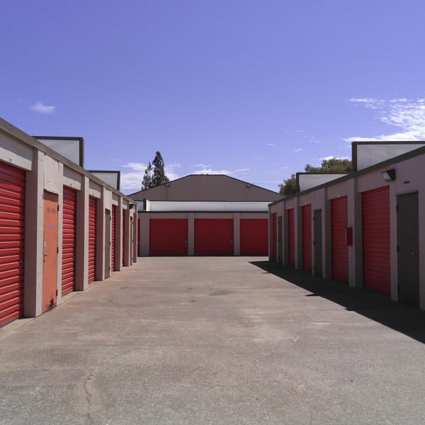 Outdoor storage units at StorQuest Express - Self Service Storage in Sacramento, California