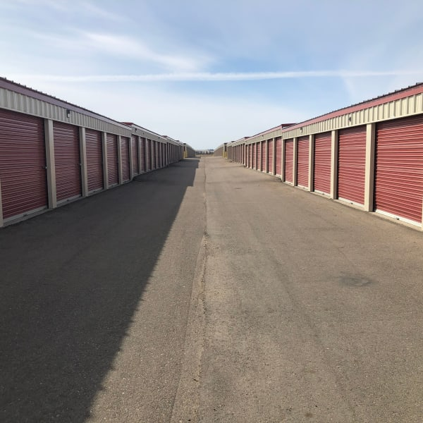 Drive up units at StorQuest Self Storage in Williston, North Dakota