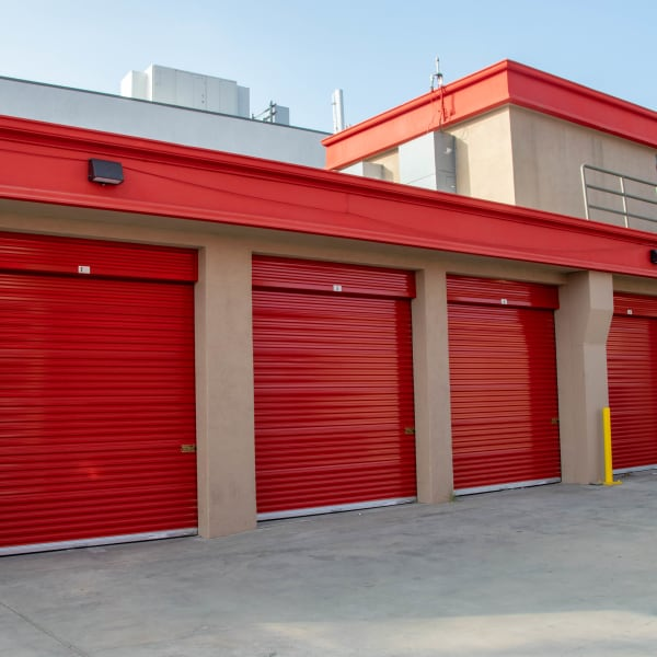 Exterior units at StorQuest Self Storage in Los Angeles, California