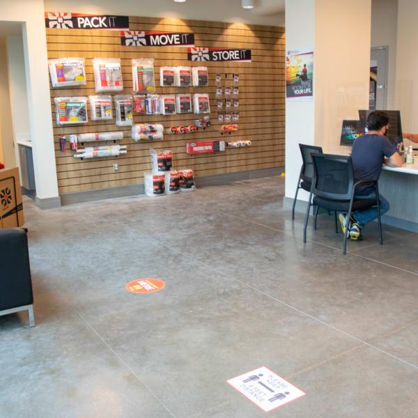 Packing supplies store at StorQuest Self Storage in Cerritos, California