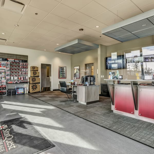 Front office at StorQuest Self Storage in Boulder, Colorado