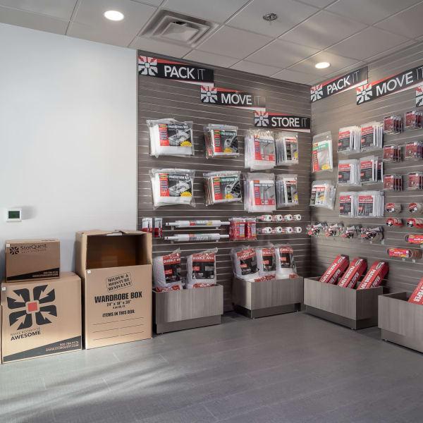 Packing supplies sold at StorQuest Self Storage in Tarpon Springs, Florida