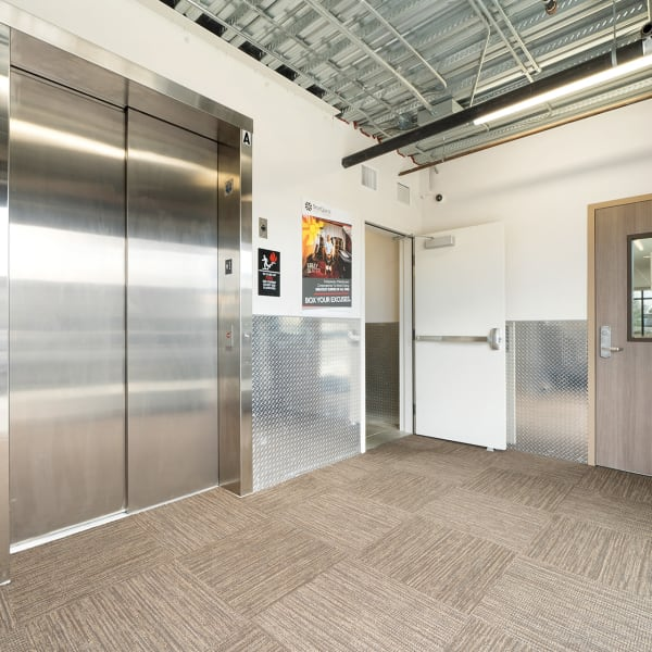 Elevators at StorQuest Self Storage in Vista, California
