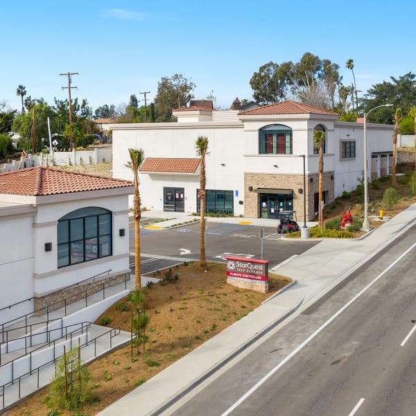 Exterior of StorQuest Self Storage in Vista, California