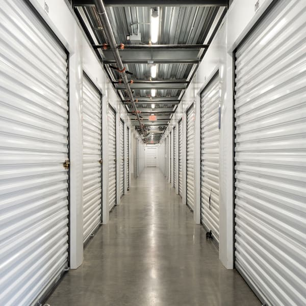 Climate controlled indoor storage units at StorQuest Self Storage in Vista, California