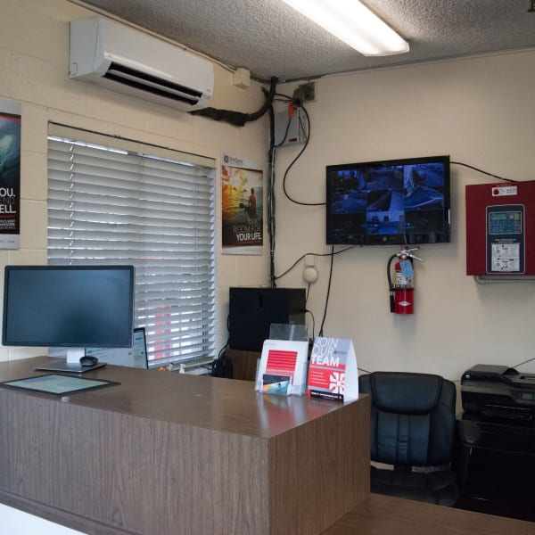 Interior of the leasng office at StorQuest Express Self Service Storage in South Lake Tahoe, California
