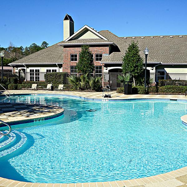 Swimming pool at Palmetto Greens Apartment Homes in Covington, Louisiana