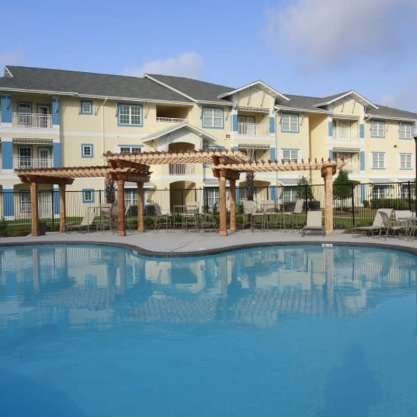 Resort-style swimming pool at Lakeside Apartment Homes in Slidell, Louisiana