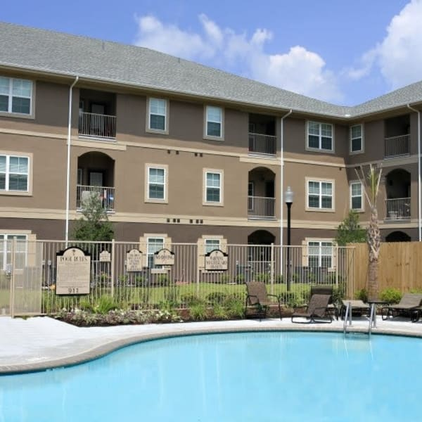 Resort-style pool at North Shore Apartment Homes in Slidell, Louisiana