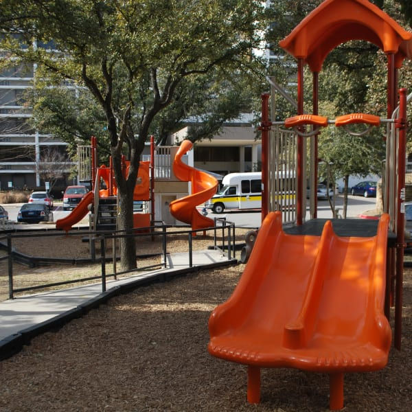 Playground at Providence Mockingbird Towers in Dallas, Texas
