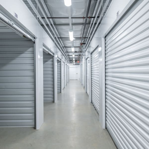 Climate controlled indoor storage units at StorQuest Self Storage in Tigard, Oregon