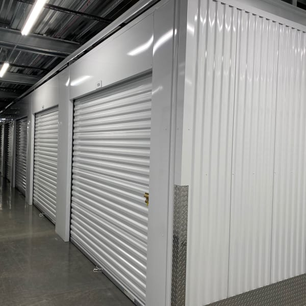 Climate controlled indoor storage units at StorQuest Self Storage in Redmond, Washington