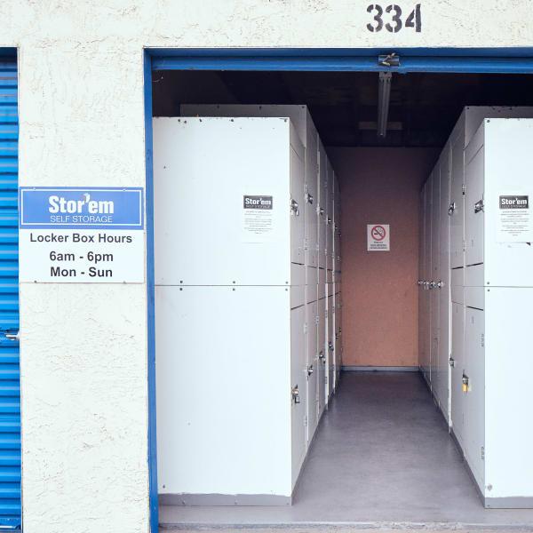 Storage units at Stor'em Self Storage in Chula Vista, California
