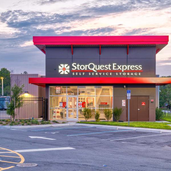 Exterior of StorQuest Express Self Service Storage in Sacramento, California