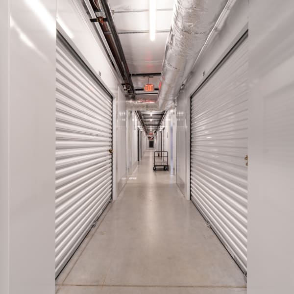 Climate controlled indoor storage units at StorQuest Express Self Service Storage in Sacramento, California