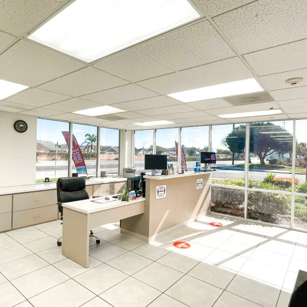 Interior of the leasing office at StorQuest Self Storage in Oxnard, California