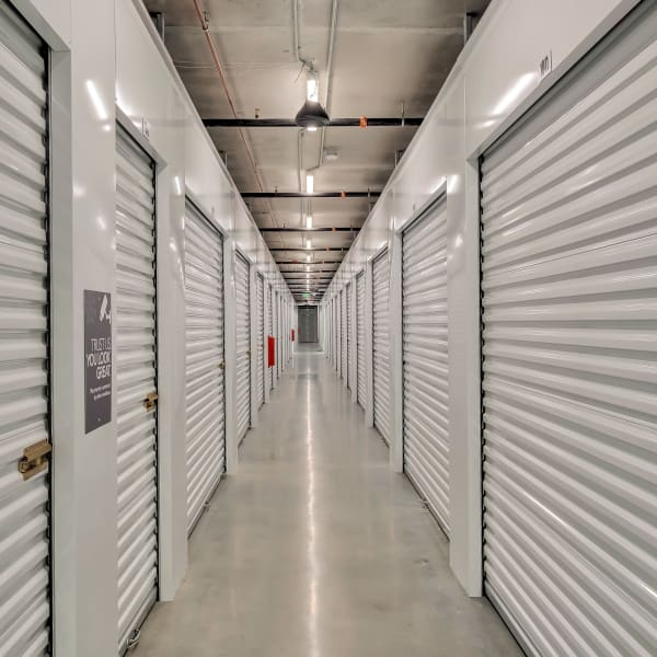 Climate controlled indoor storage units at StorQuest Self Storage in Hawthorne, California