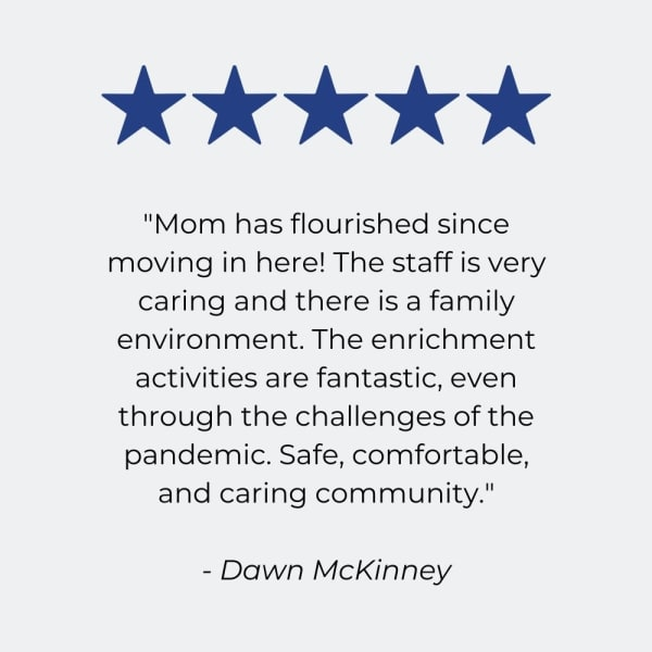 Testimonial for The Harmony Collection at Roanoke - Assisted Living