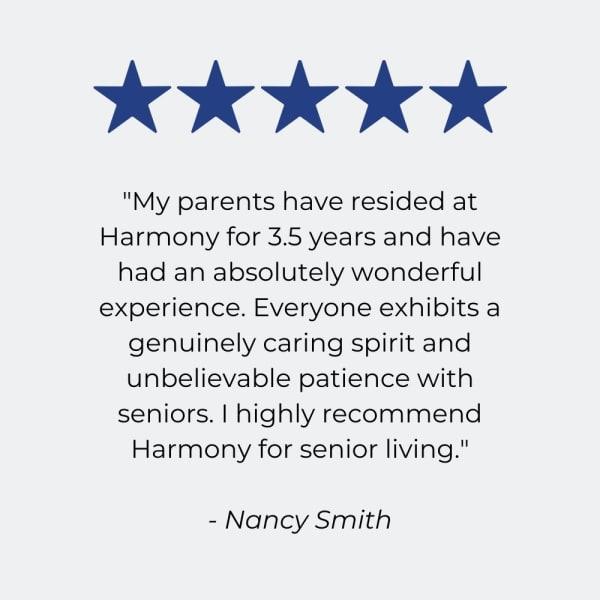 Testimonial for Harmony at Avon