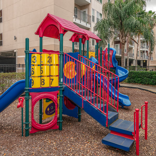 Onsite playground at The Marquis Apartment Homes in New Orleans, Louisiana