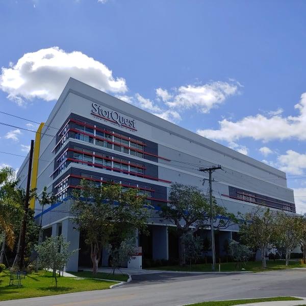 Exterior of StorQuest Self Storage in Miami, Florida
