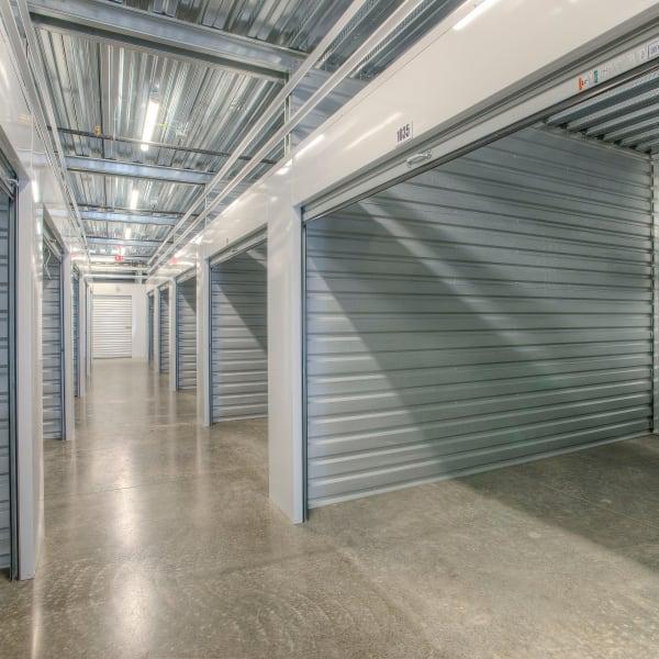 Interior of indoor storage units at StorQuest Self Storage in Thornwood, New York