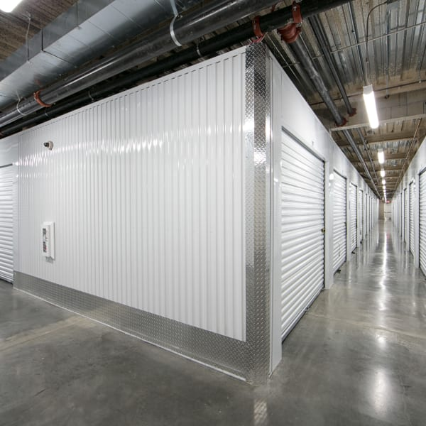 Climate controlled indoor storage units at StorQuest Self Storage in Anaheim, California