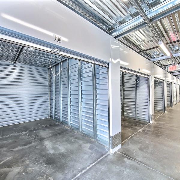 Indoor storage units at StorQuest Self Storage in Brentwood, California