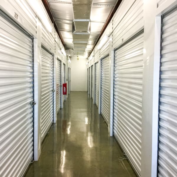 Climate-controlled interior units at StorQuest Self Storage in Friendswood, Texas