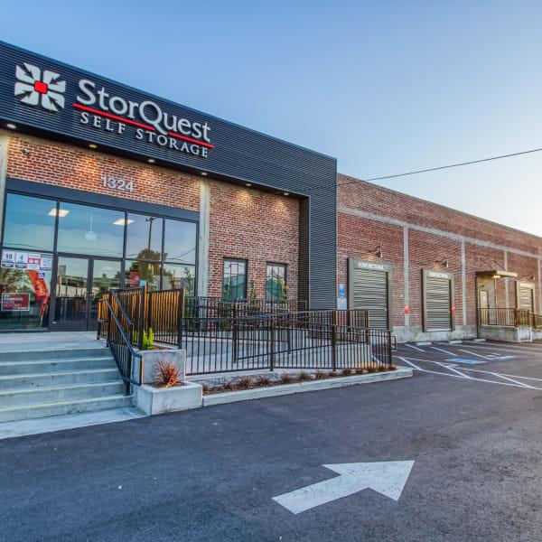 Exterior of StorQuest Self Storage in Modesto, California