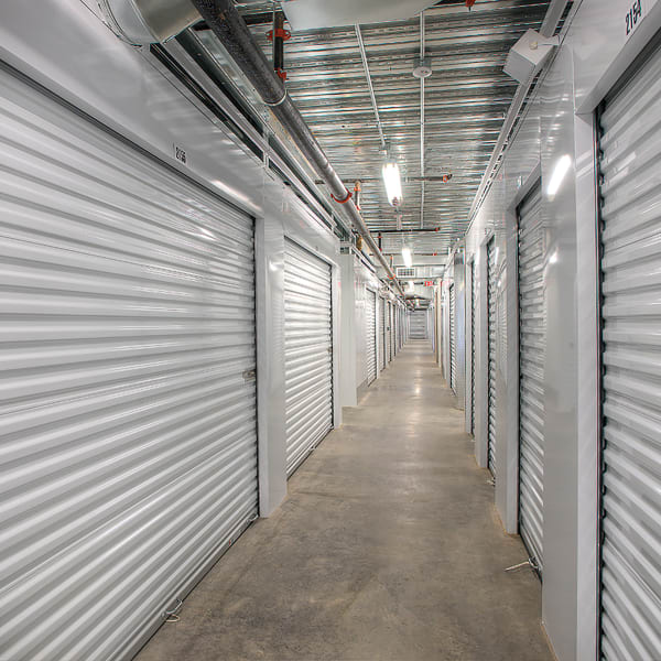 Climate controlled indoor units at StorQuest Self Storage in Kyle, Texas