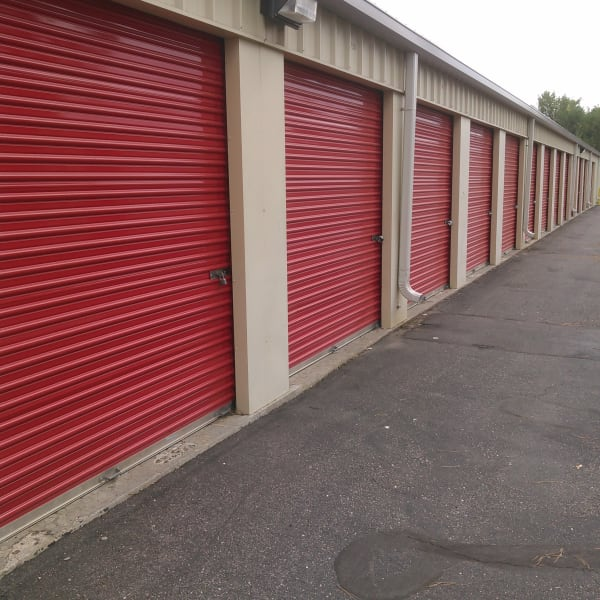 Outdoor storage units with drive-up access at StorQuest Self Storage in Louisville, Colorado