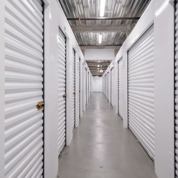 Climate controlled indoor storage units at StorQuest Self Storage in Paramount, California