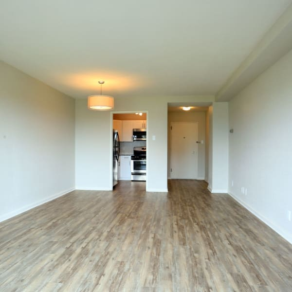 Empty spacious bedroom with walk in closet at Pembroke Towers in Norfolk, Virginia