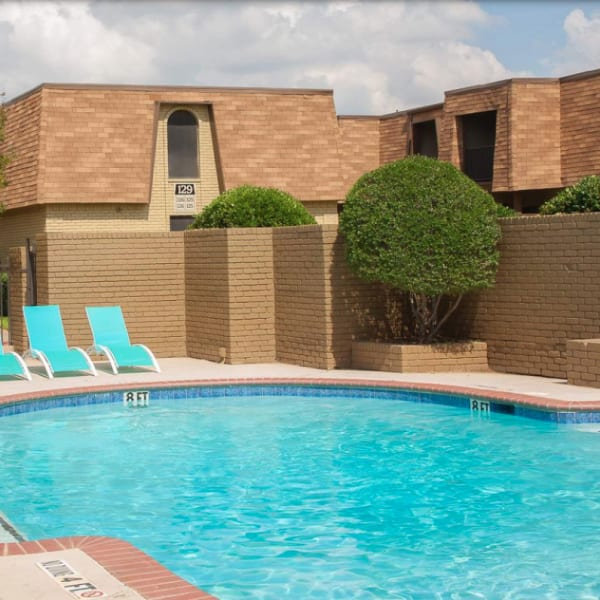 Sparkling pool at The Manchester Apartments in Euless, Texas