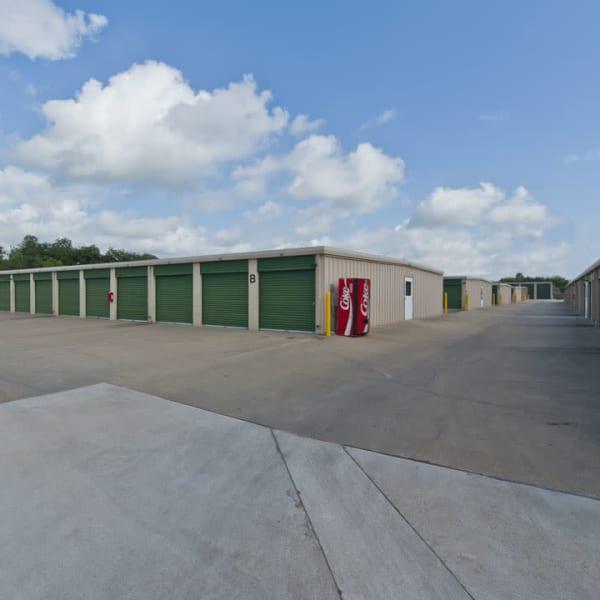 Drive-up access storage units at StorQuest Self Storage in Stockton, California