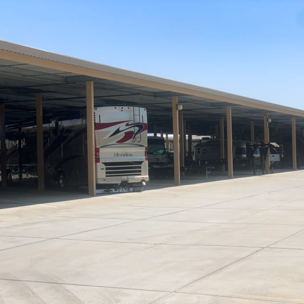 Covered RV parking at StorQuest Self Storage in Cathedral City, California