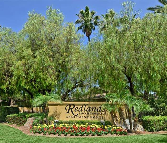 Our sign at Redlands Lawn and Tennis Club in Redlands