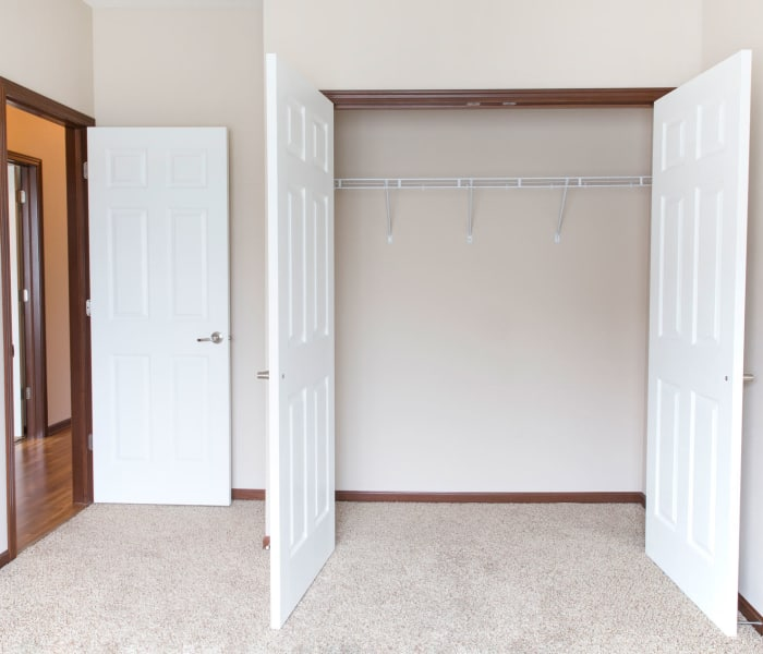 Bedroom closet at The Reserve at Glenstone in Grimes, Iowa