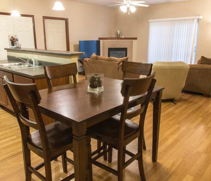 Apartment dining room at Golf View in Pleasant Hill, Iowa