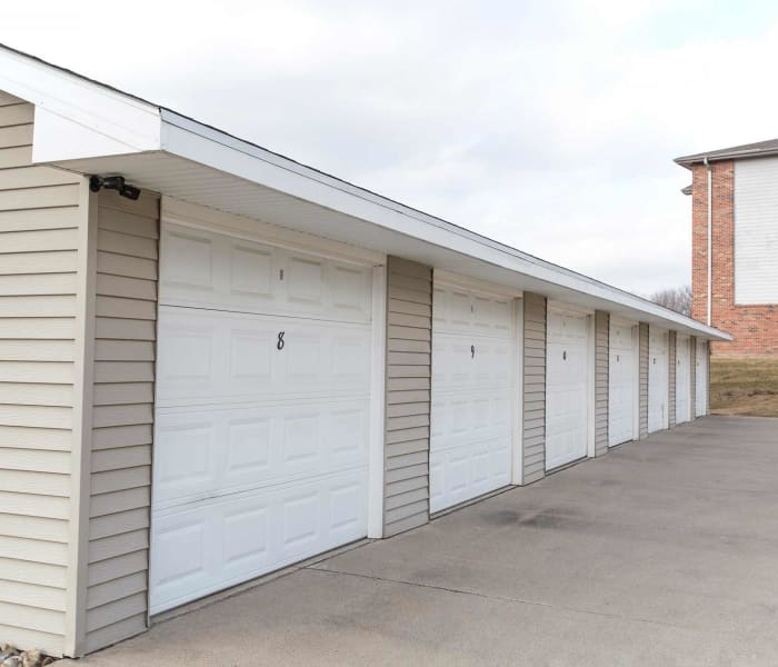 Community garages at Riverwood in Pleasant Hill, Iowa