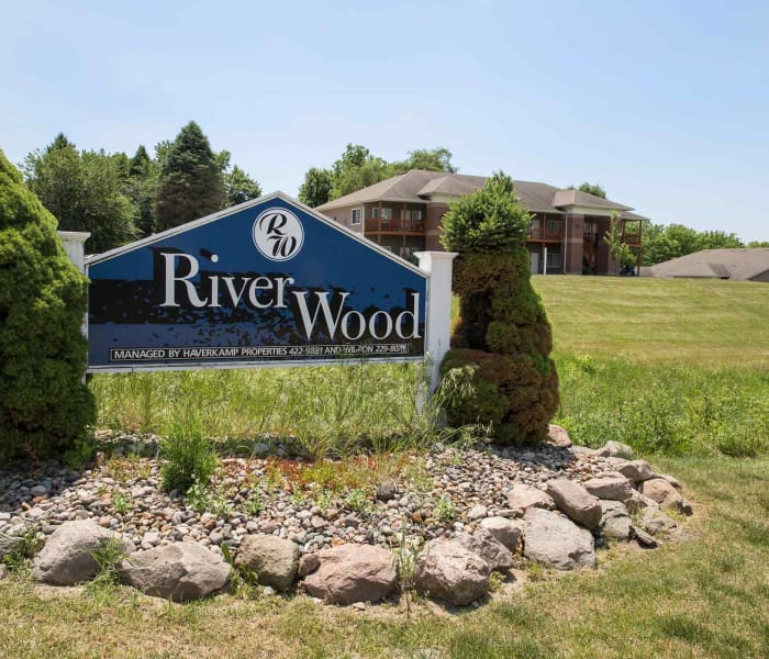 Branding and signage at Riverwood in Pleasant Hill, Iowa