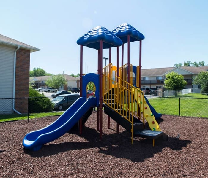 Community playground at Prairie Reserve in Cedar Rapids, Iowa