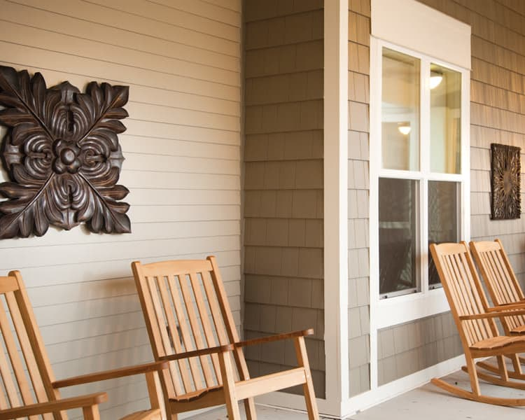 Rocking chairs at Avenir Memory Care at Knoxville in Knoxville, TN