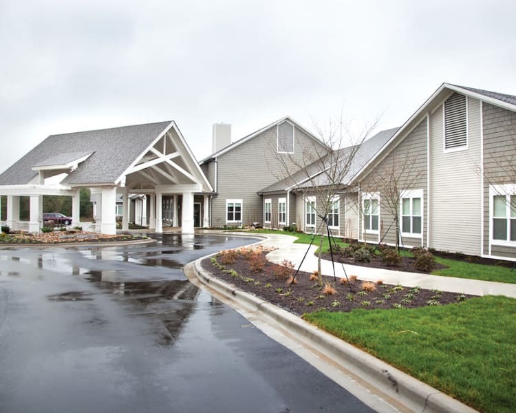 Driveway to Avenir Memory Care at Knoxville in Knoxville, TN