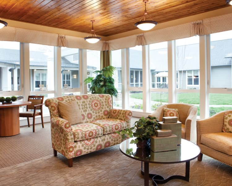Large windows at Avenir Memory Care at Knoxville in Knoxville, TN