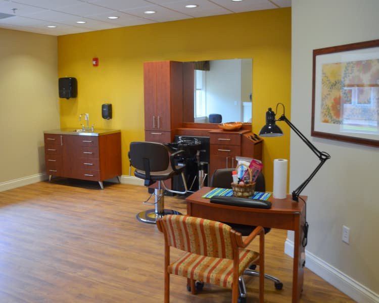 Nail and hair salon at Avenir Memory Care at Little Rock in Little Rock, AR